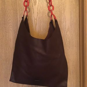 NWT Burberry Leather Chain Shopper